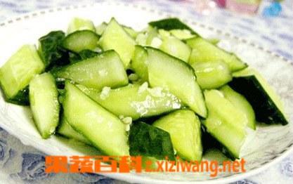 果蔬百科蒜泥黄瓜怎么做 蒜泥黄瓜的做法大全